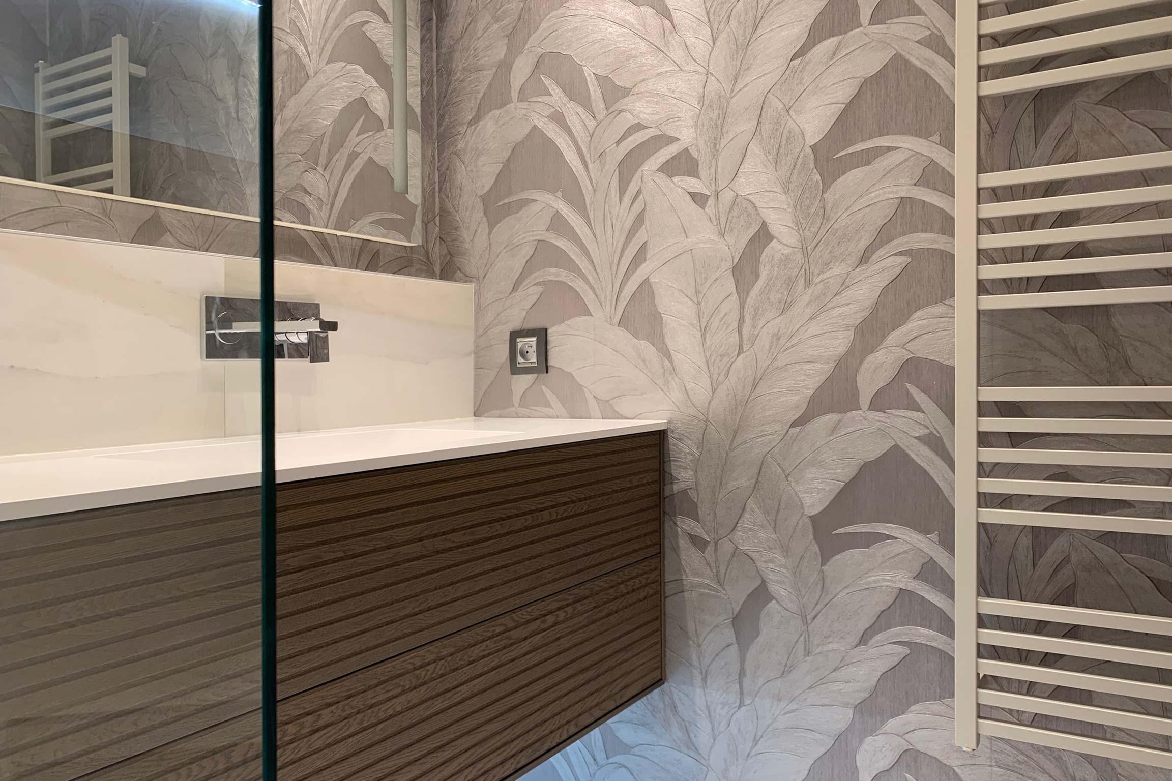 Rénovation d\'une salle de bains en douche à Lyon