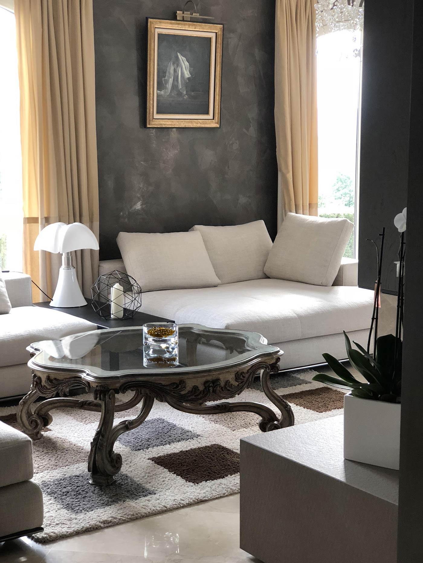 Architecte d\'intérieur : salon d\'une maison bourgeoise à Lyon